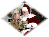 Santa and Little Girl Photo